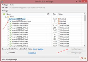 安裝Android SDK檔案
