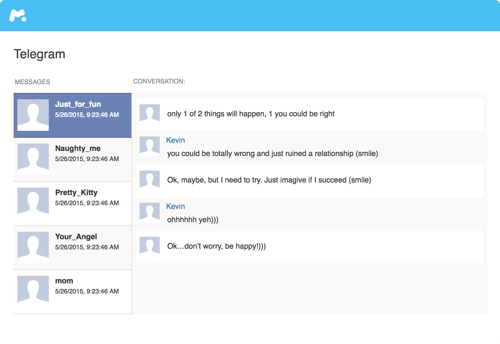 跟蹤Telegram